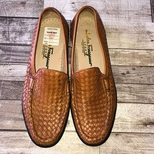 Salvatore Ferragamo Sport tan leather loafers